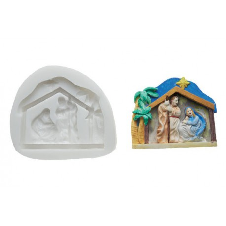 NATIVITY SILICONE MOULD