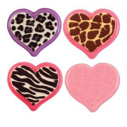 ANIMAL PRINT HEART CANDY MOLD