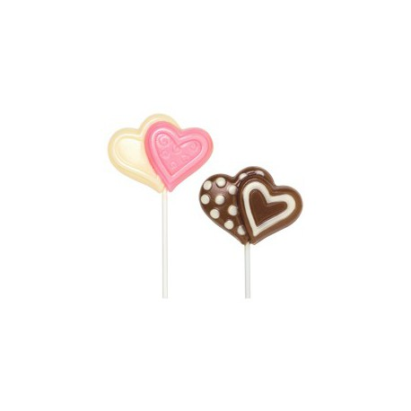 DBLE HEART LRGE LOLLI MOLD