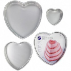 DEC PREF 4 PC HEART PAN SET