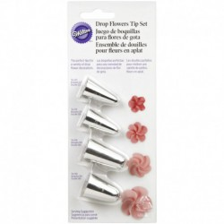4PC DROP FLOWERS TIP SET