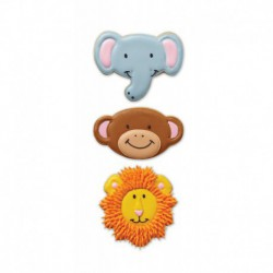 3 PC JUNGLE PALS COOKIE CUTTER SET