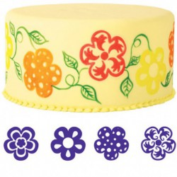 4PC FLOWER STAMP SET