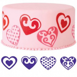 4PC HEARTS STAMP SET
