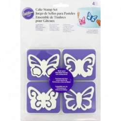 4PC BUTTERFLY STAMP SET