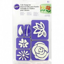 6PC FLOWERS STAMP SET