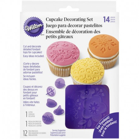CUPCAKE DEC SET FLOWERS