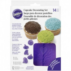 CUPCAKE DEC SET HEARTS