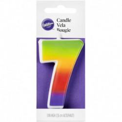 NUMERAL 7 RAINBOW