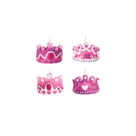 CANDLES PRINCESS 4PC