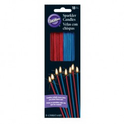 PATRIOTIC SPARKLER CANDLES