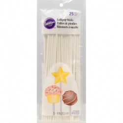 8IN LOLLIPOP STICKS 25CT
