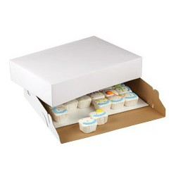 CAKE BOX CORRUGATE 19X14X4 2CT