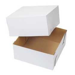 CAKE BOX CORRUGATE 12X12X6 2CT