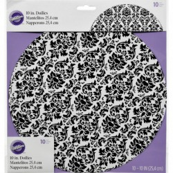 DOILY DAMASK 10IN 10CT