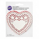 DOILY 4IN ASRTD RED WHTE 12CT