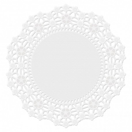 6 IN DOILIES GP-WH