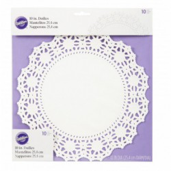10 IN DOILIES GP-WH