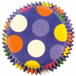 DAZZLING DOTS STD BAKE CUPS 50