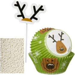 CUPCAKE DEC KIT REINDEER 48CT