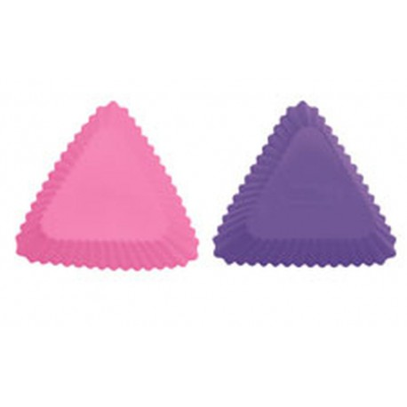 TRIANGLE SIL BAKING CUPS 12CT