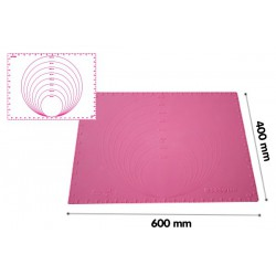 FUCHSIA SILICONE MOULD 600X400 MM WITH DIAMETER
