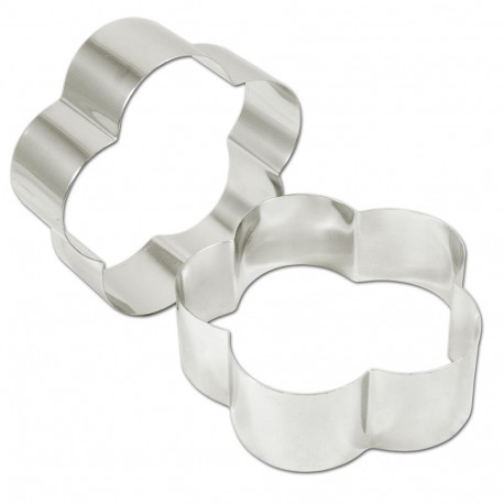 Rings petal stainless steel 18 (ga) 8