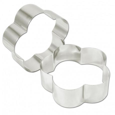 Rings petal stainless steel 18 (ga) 8