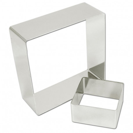 Rings square stainless steel 18 (ga) ?Ã??6 3/8' x 2'