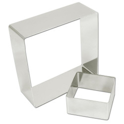 Rings square stainless steel 18 (ga) ?Ã??7' x 2'