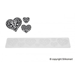 TRICOT DECOR HEARTS TRD11