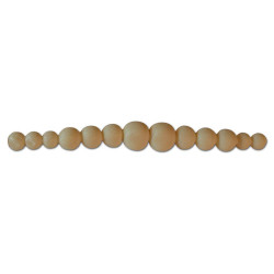 Silicone Bead Mold, Graduated Pearls, 6mm x 155mm long