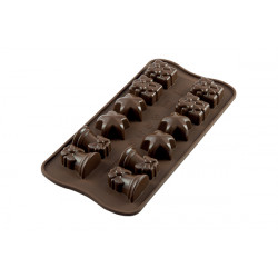 BROWN CHRISTMAS MOULD ITEM NR. 12 SHAPEMM