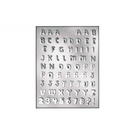 CHOCOLATE MOULD LETTERS NUMBERS 18 X 14 X H 5 MM ?Â??