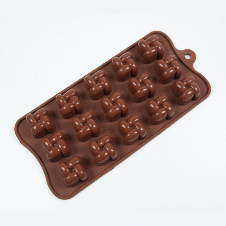 Silicone Chocolate Mold, 9.13' x 4.18', Interlock?Â??