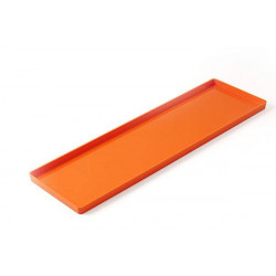 SET 2 PCS ORANGE TRAY 119X395,5 MM H 12,5 MM