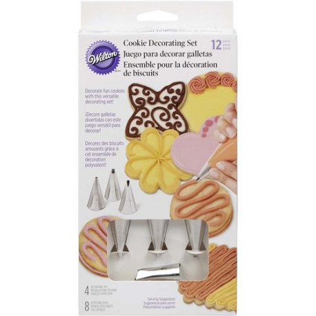 12PC COOKIE DECORATING SET
