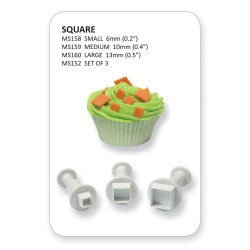 Miniature Square Plunger Cutter set/3