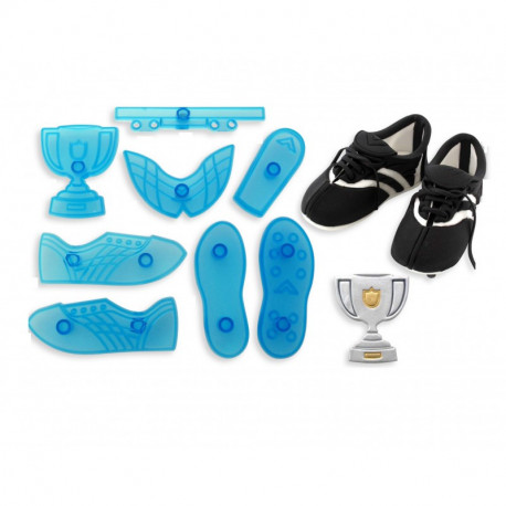 Soccer Boot & Trophy - Set of 8
