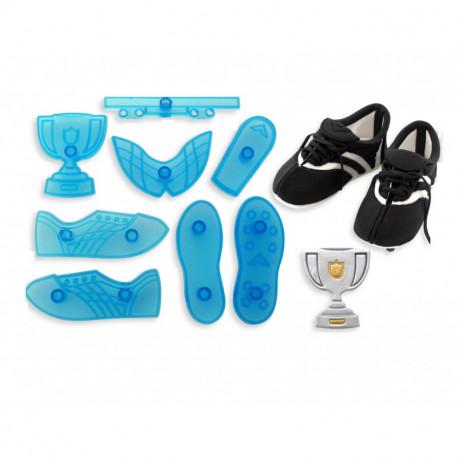 Soccer Boot & Trophy - Set of 8
