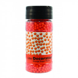 Orange Sugar Pearls 113.4g 4mm