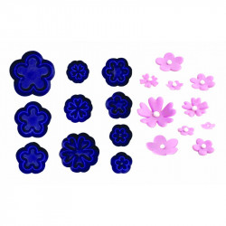 Small Daisy/Blossom & Primula Set - Set of 10