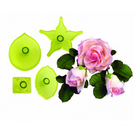 Large Rose - Set of 4