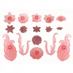 Floral Scrolls and Trims - Set of 8