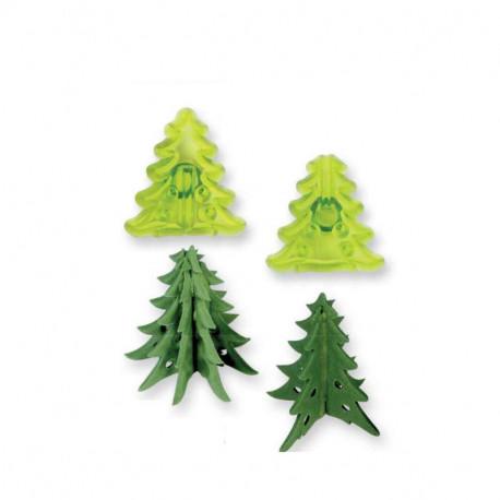 JEM Small 3D Christmas Trees Cutter set/2