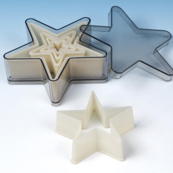 Nylon Cutter Set, Boxed, 5 pt Star, 5 pc set