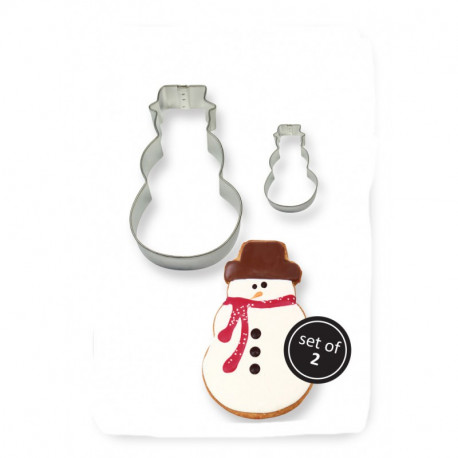 COOKIE & CAKE SNOWMAN CUTTER (SET/2)