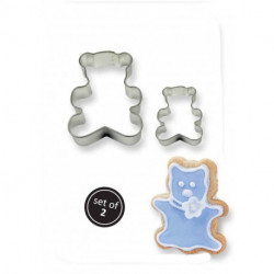 COOKIE & CAKE TEDDY CUTTER (SET/2)