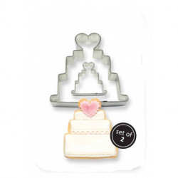 COOKIE & CAKE WEDDING CAKE CUTTER (SET/2)