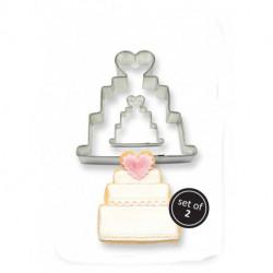 COOKIE & CAKE WEDDING CAKE CUTTER (SET/2)